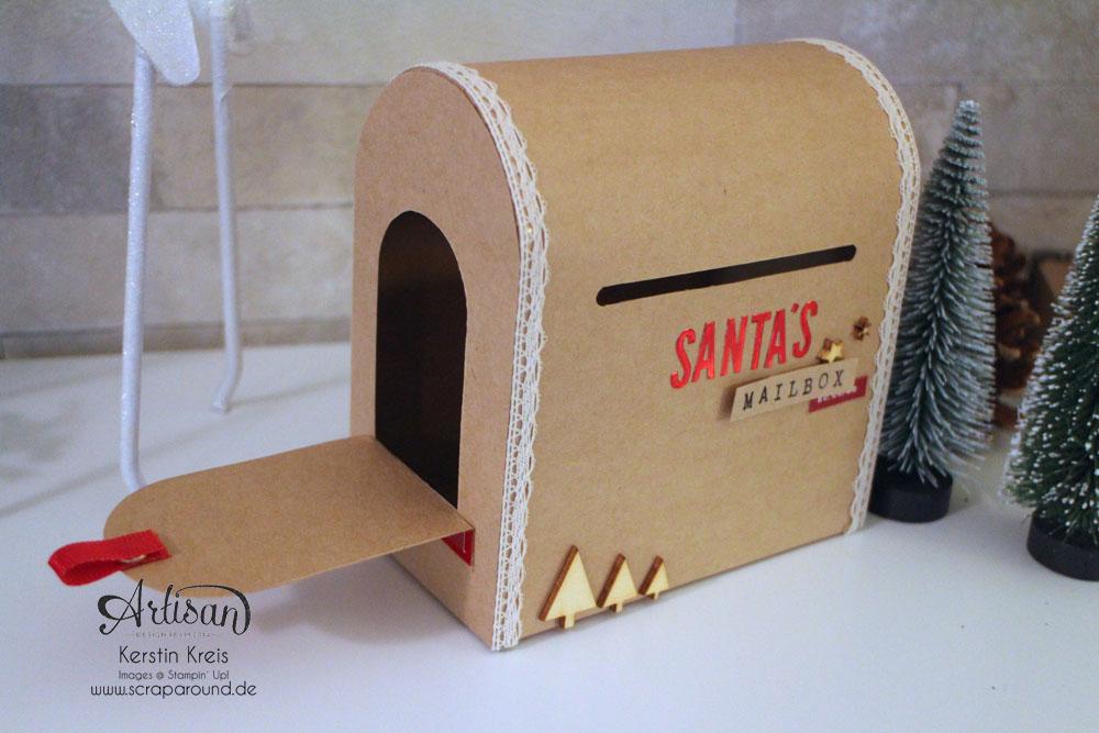 """Santa´s MailBox"" - Stampin´ Up! Artisan DesignTeam BlogHop 04.12.2014 -  Detailbild3"