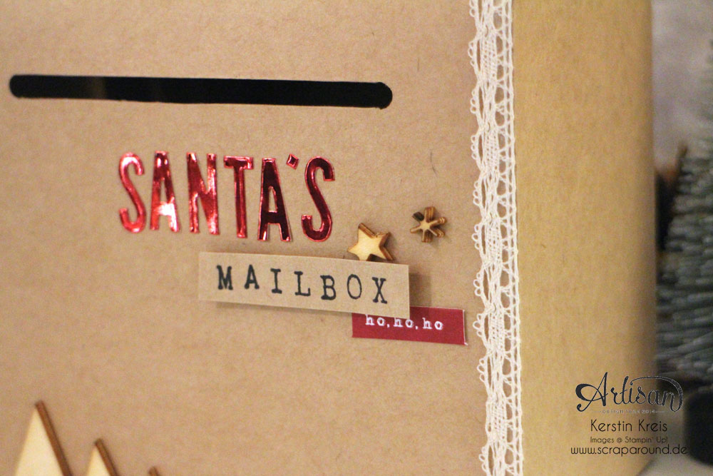 """Santa´s MailBox"" - Stampin´ Up! Artisan DesignTeam BlogHop 04.12.2014 -  Detailbild4"