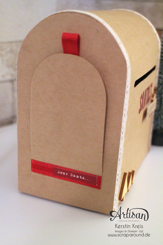 """Santa´s MailBox"" - Stampin´ Up! Artisan DesignTeam BlogHop 04.12.2014 -  Detailbild5"