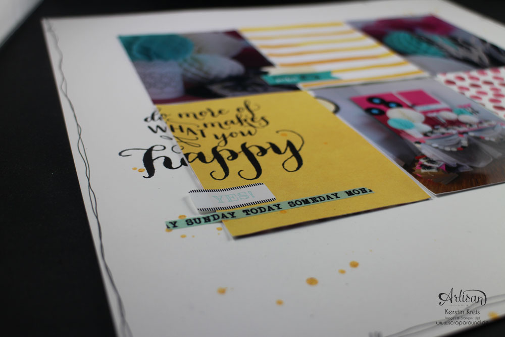"""Scrapbook-Layout"" - Stampin´ Up! Artisan DesignTeam BlogHop 08.01.2015 - Layout ""SUmmerCamp 2013"" mit Designerpapier ""Zarter Frühling""  Detailbild2"