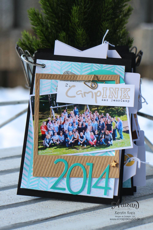 """""""MiniAlbum CampInk 2014"""" - Stampin´ Up! Artisan DesignTeam BlogHop 15.01.2015 - Album mit dem Projekt-Set """"Für jemand Besonderen"""""""