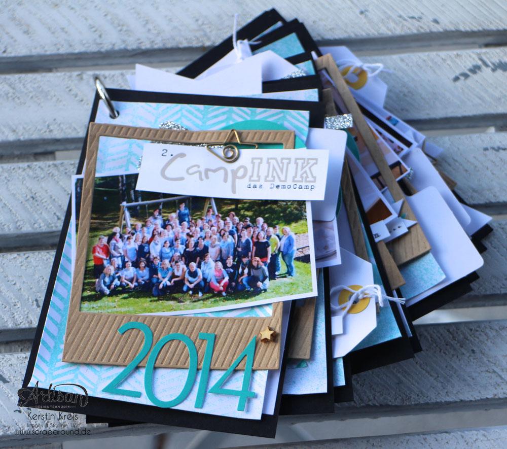 """""""MiniAlbum CampInk 2014"""" - Stampin´ Up! Artisan DesignTeam BlogHop 15.01.2015 - Album mit dem Projekt-Set """"Für jemand Besonderen"""" Detailbild01"""