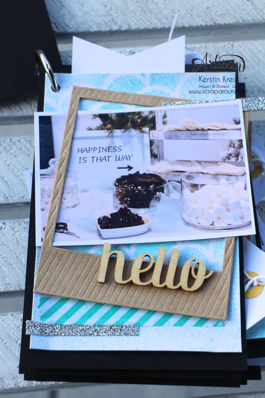 """""""MiniAlbum CampInk 2014"""" - Stampin´ Up! Artisan DesignTeam BlogHop 15.01.2015 - Album mit dem Projekt-Set """"Für jemand Besonderen"""" Detailbild02"""