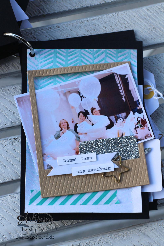 """""""MiniAlbum CampInk 2014"""" - Stampin´ Up! Artisan DesignTeam BlogHop 15.01.2015 - Album mit dem Projekt-Set """"Für jemand Besonderen"""" Detailbild07"""