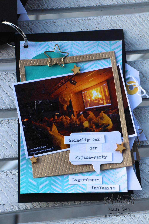 """""""MiniAlbum CampInk 2014"""" - Stampin´ Up! Artisan DesignTeam BlogHop 15.01.2015 - Album mit dem Projekt-Set """"Für jemand Besonderen"""" Detailbild08"""