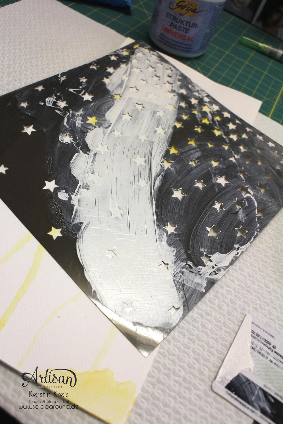 """""""ProjectLife Titelseite 2015"""" - Stampin´ Up! Artisan DesignTeam BlogHop 22.01.2015 - Aquarelltechnik mit Spezialpappe und BigZ Perfekte Buchstaben Detailbild09"""