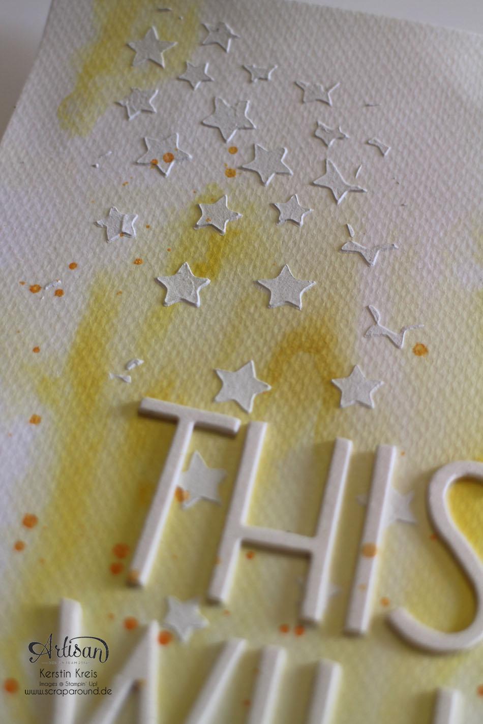 """""""ProjectLife Titelseite 2015"""" - Stampin´ Up! Artisan DesignTeam BlogHop 22.01.2015 - Aquarelltechnik mit Spezialpappe und BigZ Perfekte Buchstaben Detailbild04"""
