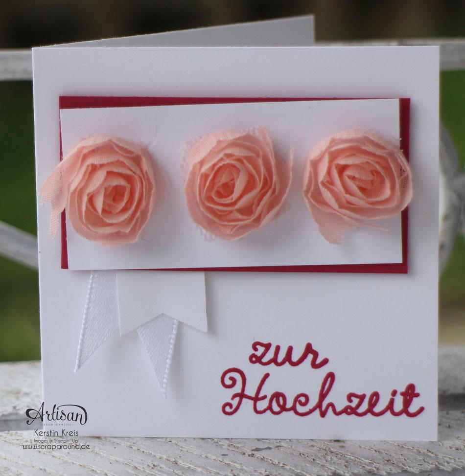 """Stamping & Blogging DT Sketch87 Hochzeitskarten mit Kreativ-Set """"Accessoires"""" und Stempelset """"wir feiern"""" Detailbild01"""