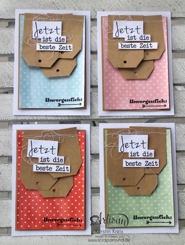 """Stamping & Blogging DT Sketch88 Freundschaftskarte mit SAB Designerpapier Zauberhaft, Craft Cardstock und Stempelset """"Unvergesslich"""""""