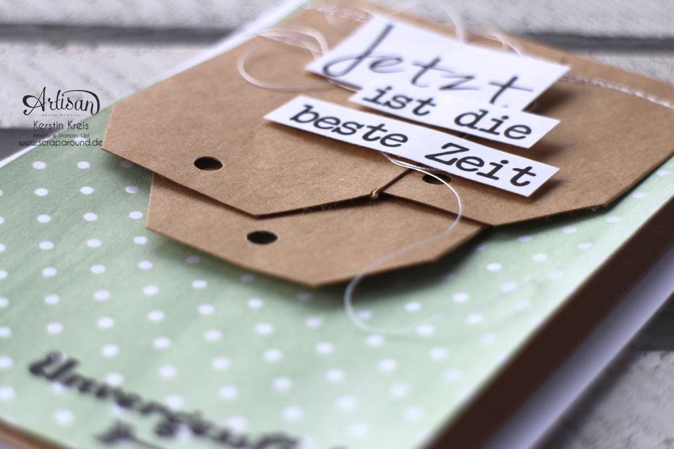 """Stamping & Blogging DT Sketch88 Freundschaftskarte mit SAB Designerpapier Zauberhaft, Craft Cardstock und Stempelset """"Unvergesslich"""" Detailbild05"""