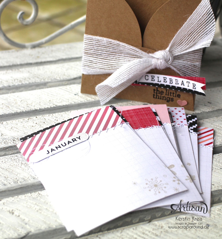 """""""Valentins-Geschenk"""" - Stampin´ Up! Artisan DesignTeam BlogHop 12.02.2015 - Tasche mit Einsteckkarten DP """"jede Menge Liebe"""" und Stempelset """"perpetual Birthday Zahlender"""" Detailbild1"""