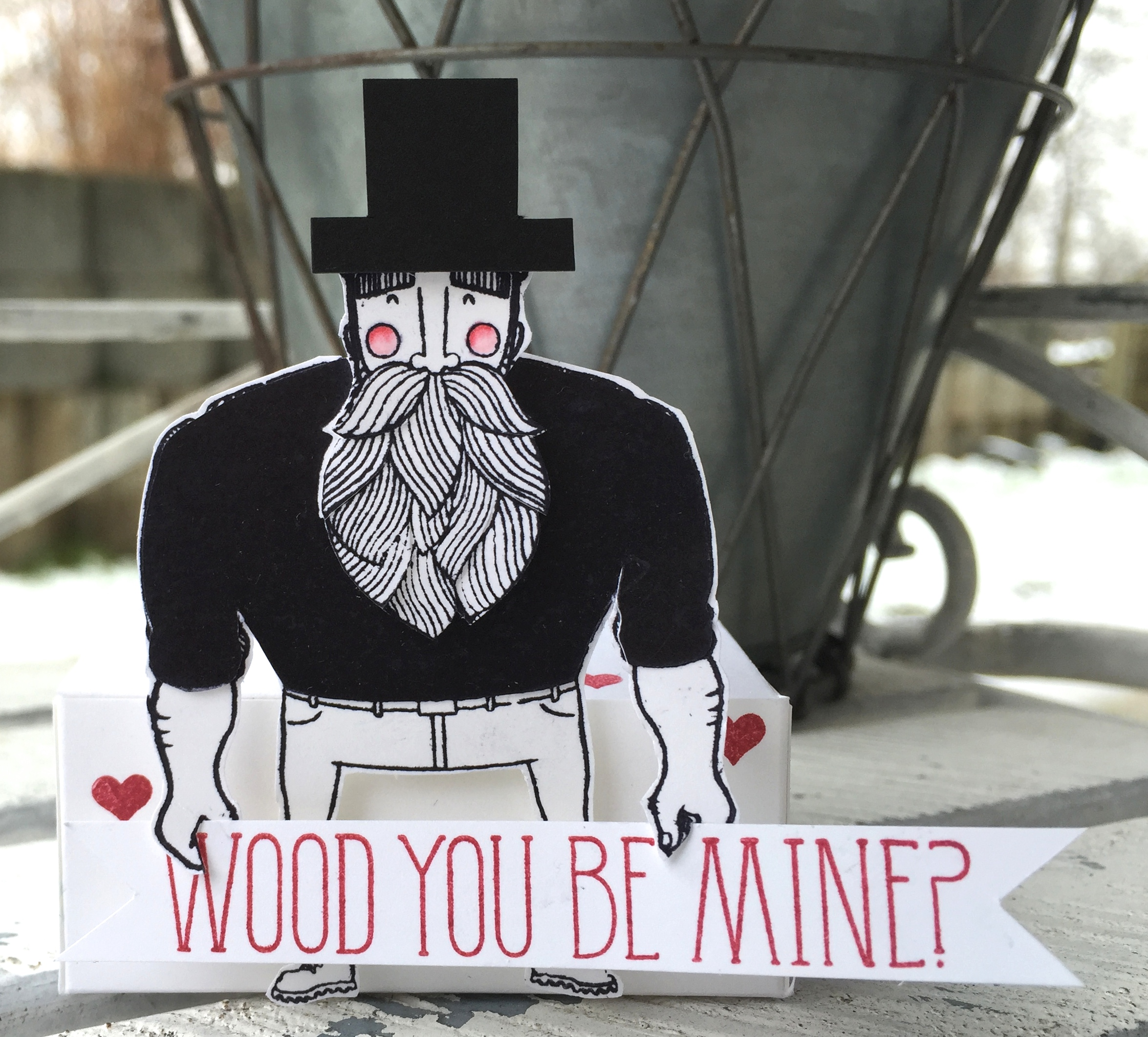 """wood you be mine?"" - Stampin´ Up! Artisan DesignTeam BlogHop 26.02.2015 - Heiratsantrag mit Stempelset ""wood you be mine"""