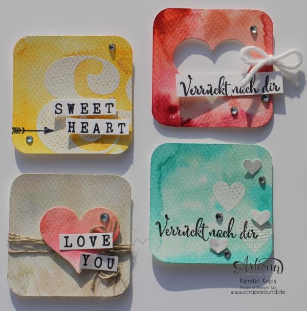 "Inspiration&Art BlogHop14022015 Insta-Minis Watercolor Stempelset ""wir beide"" Frühjahr-Sommerkatalog 2015"