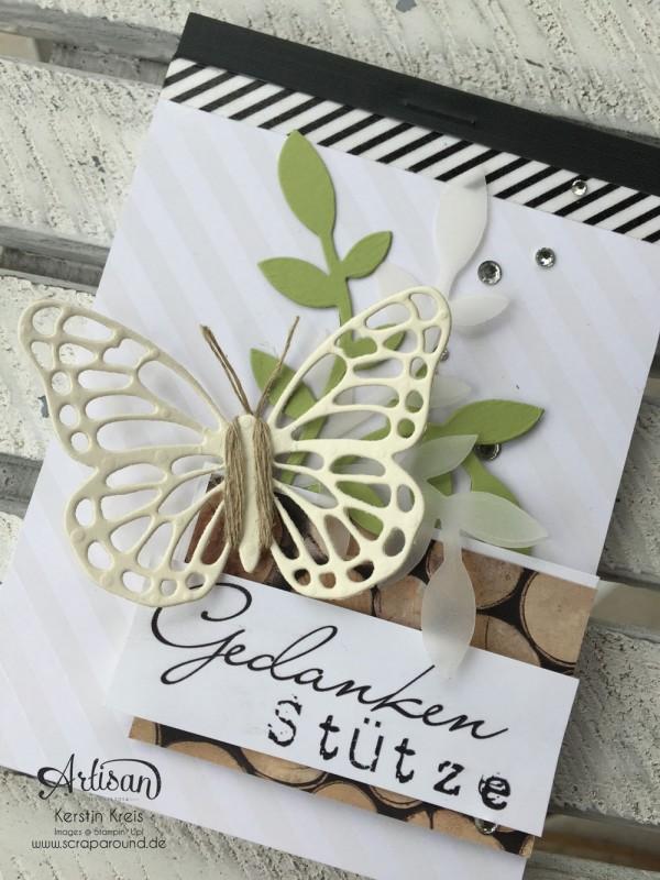 """Stamping & Blogging DT Sketch92 Notizblock mit SAB Designerpapier """"Zauberhaft"""" und Thinlits """"Schmetterlinge"""" Detailbild2"""
