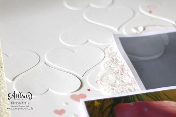 """""""BabyBauch Layout"""" - Stampin´ Up! Artisan DesignTeam BlogHop 02.04.2015 - BabyBauch Layout mit Stempelset """"Mum´s love"""" und Stanzer Herz Detailbild02"""