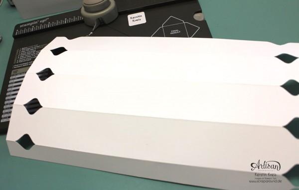 """""""Fächer-Verpackung für Hochzeitsgäste"""" - Stampin´ Up! Artisan DesignTeam BlogHop 05.03.2015 - Verpackung mit dem Umschlag-Board mit Stempelset """"hello life"""" und BigZ """"Spiralblume"""" Detailbild07"""