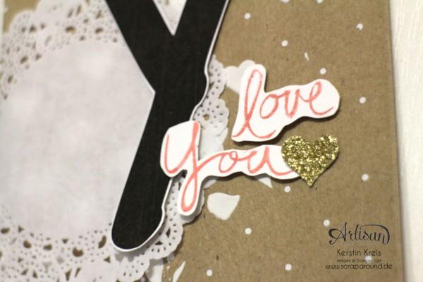 """""""Baby Namensschild"""" - Stampin´ Up! Artisan DesignTeam BlogHop 16.04.2015 - Türschild mit """"Geschenktüten schnelle Überraschung Polka Dot"""" und Stempelset """"Mum´s love"""" Detailbild03"""