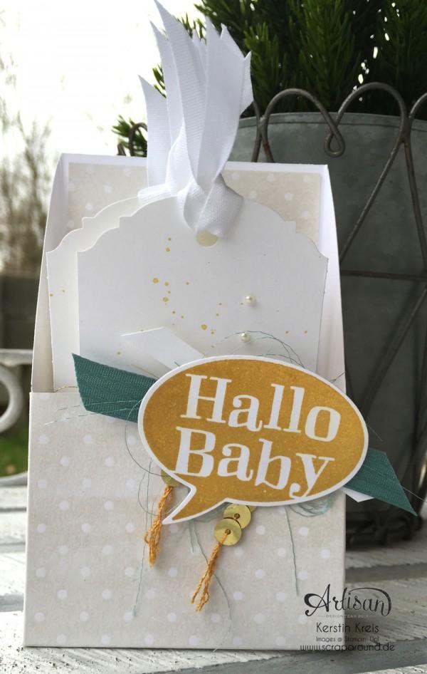 """""""hallo Baby"""" - Stampin´ Up! Artisan DesignTeam BlogHop 19.03.2015 - Baby-Kärtchen mit Stempelset """"kleiner Sonnenschein"""" und Designerpapiere """"Zauberhaft"""" und """"süße Träume"""""""