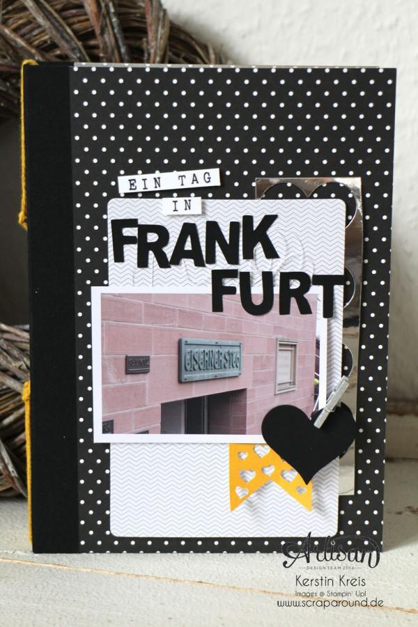 """""""MiniAlbum Buttonhole Stich Binding"""" - Stampin´ Up! Artisan DesignTeam BlogHop 26.03.2015 - MiniAlbum mit ProjektSet """"Das Leben lacht"""" und Buttonhole Stich Bindung"""