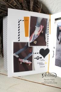 """""""MiniAlbum Buttonhole Stich Binding"""" - Stampin´ Up! Artisan DesignTeam BlogHop 26.03.2015 - MiniAlbum mit ProjektSet """"Das Leben lacht"""" und Buttonhole Stich Bindung Detailbild07"""