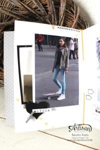 """""""MiniAlbum Buttonhole Stich Binding"""" - Stampin´ Up! Artisan DesignTeam BlogHop 26.03.2015 - MiniAlbum mit ProjektSet """"Das Leben lacht"""" und Buttonhole Stich Bindung Detailbild06"""