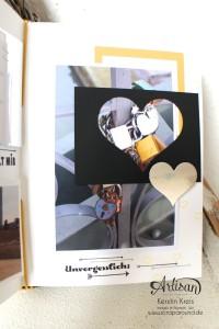 """""""MiniAlbum Buttonhole Stich Binding"""" - Stampin´ Up! Artisan DesignTeam BlogHop 26.03.2015 - MiniAlbum mit ProjektSet """"Das Leben lacht"""" und Buttonhole Stich Bindung Detailbild08"""