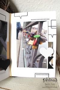 """""""MiniAlbum Buttonhole Stich Binding"""" - Stampin´ Up! Artisan DesignTeam BlogHop 26.03.2015 - MiniAlbum mit ProjektSet """"Das Leben lacht"""" und Buttonhole Stich Bindung Detailbild09"""