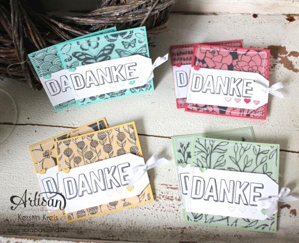 """Stamping & Blogging DT Sketch95 Danke-Karten mit Stempelset """"Dankbar für dich"""" und SAB DP """"Pure Perfektion"""""""