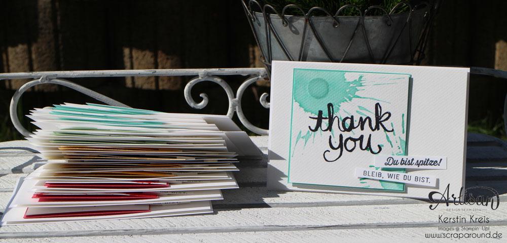 """Stamping & Blogging DT Sketch97 Danke-Karte mit Sale-a-bration Stempelset """"Wie du bist"""" Detailbild1"""