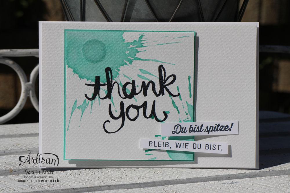 """Stamping & Blogging DT Sketch97 Danke-Karte mit Sale-a-bration Stempelset """"Wie du bist"""""""