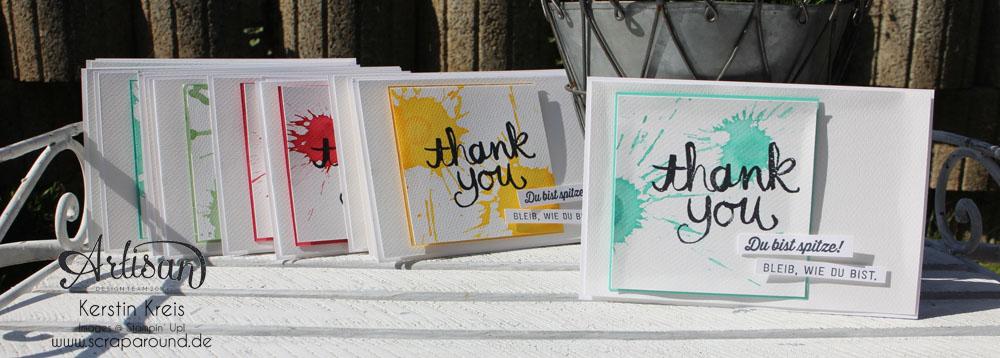 """Stamping & Blogging DT Sketch97 Danke-Karte mit Sale-a-bration Stempelset """"Wie du bist"""" Detailbild3"""