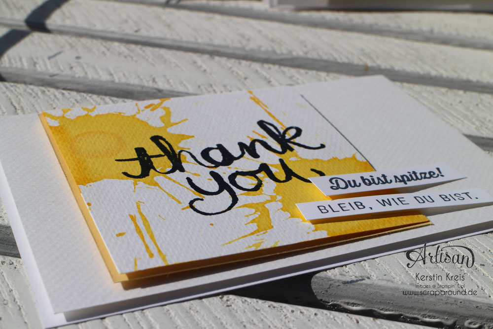 """Stamping & Blogging DT Sketch97 Danke-Karte mit Sale-a-bration Stempelset """"Wie du bist"""" Detailbild4"""