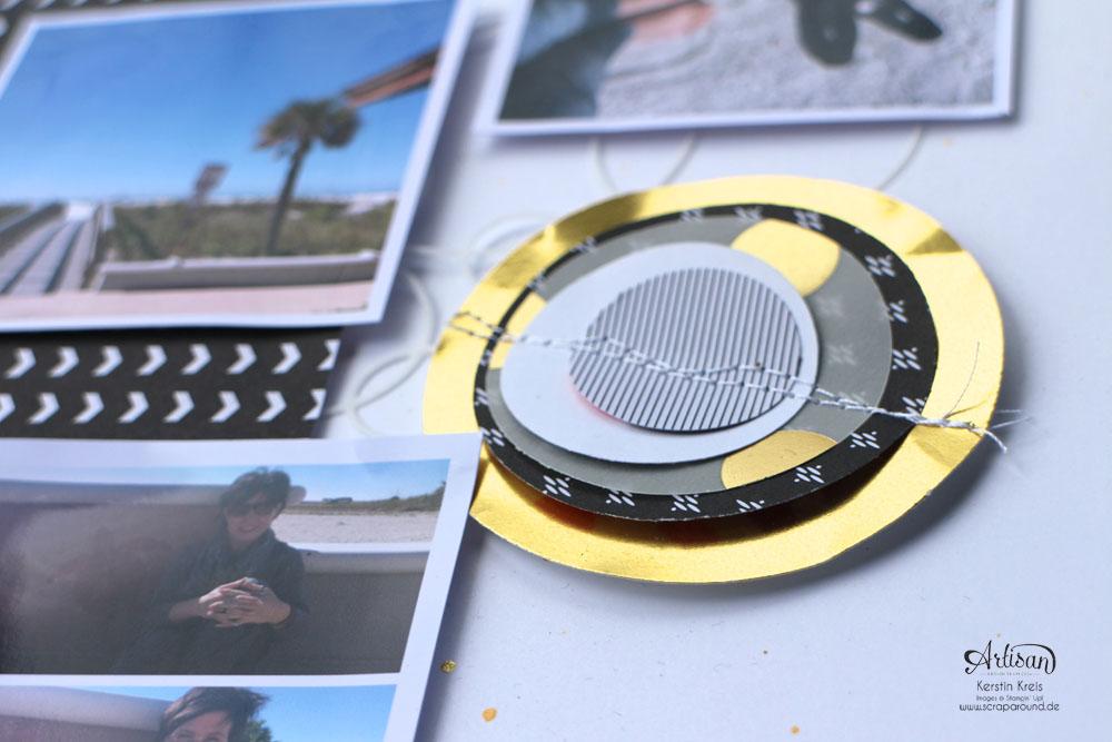 """WS Jenni 28022015 Projekt Layout mit Designerpapier """"jede Menge Liebe"""", Goldpapieren und ABC Rollenstempel  Detailbild3"""