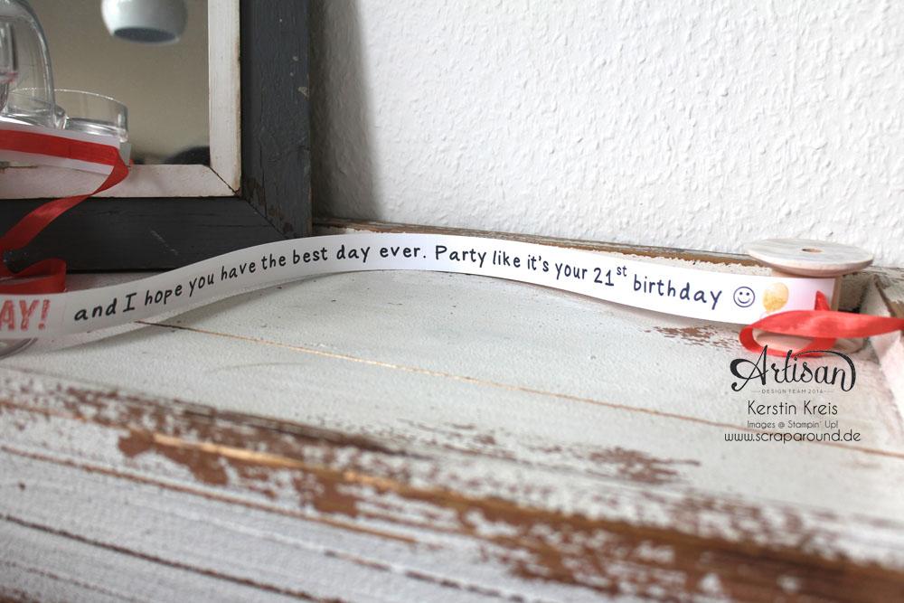 """""""Besonderer Geburtstags-Gruß"""" - Stampin´ Up! Artisan DesignTeam BlogHop 09.04.2015 - Gruß-Rolle mit Stempelset """"Birthday surprise"""" Detailbild05"""