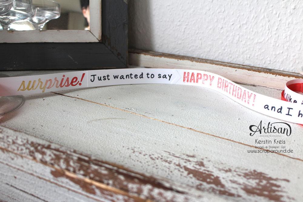 """""""Besonderer Geburtstags-Gruß"""" - Stampin´ Up! Artisan DesignTeam BlogHop 09.04.2015 - Gruß-Rolle mit Stempelset """"Birthday surprise"""" Detailbild03"""