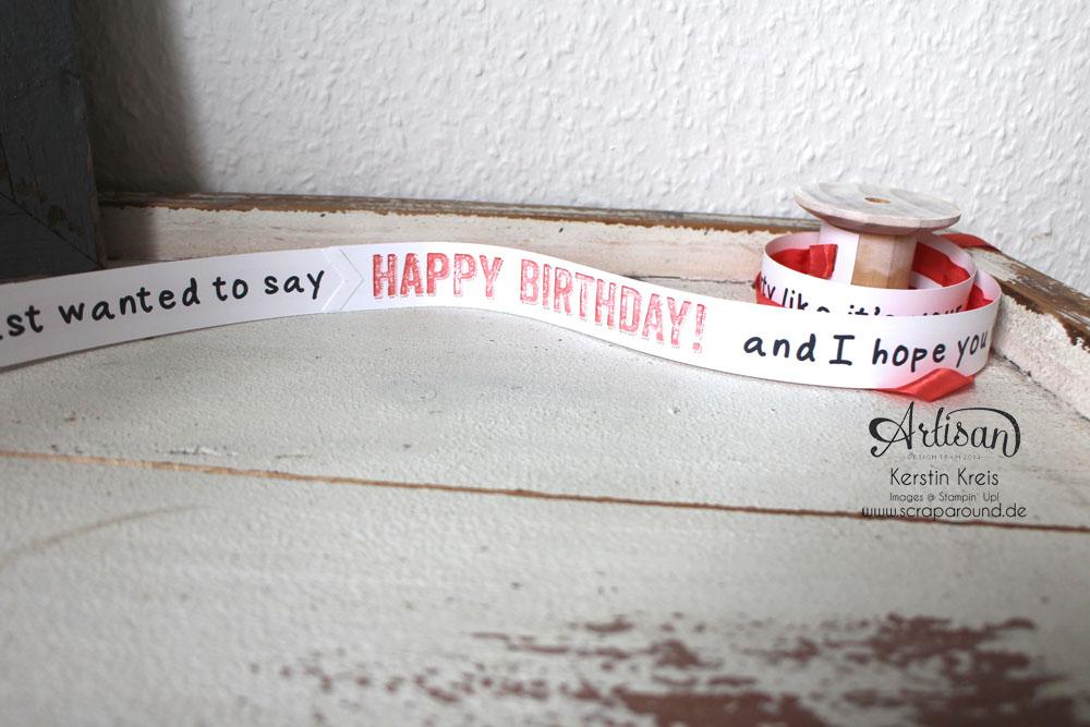 """""""Besonderer Geburtstags-Gruß"""" - Stampin´ Up! Artisan DesignTeam BlogHop 09.04.2015 - Gruß-Rolle mit Stempelset """"Birthday surprise"""" Detailbild04"""