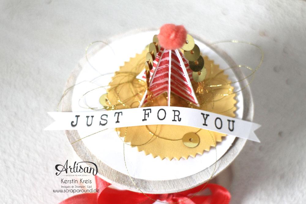 """""""Besonderer Geburtstags-Gruß"""" - Stampin´ Up! Artisan DesignTeam BlogHop 09.04.2015 - Gruß-Rolle mit Stempelset """"Birthday surprise"""" Detailbild01"""