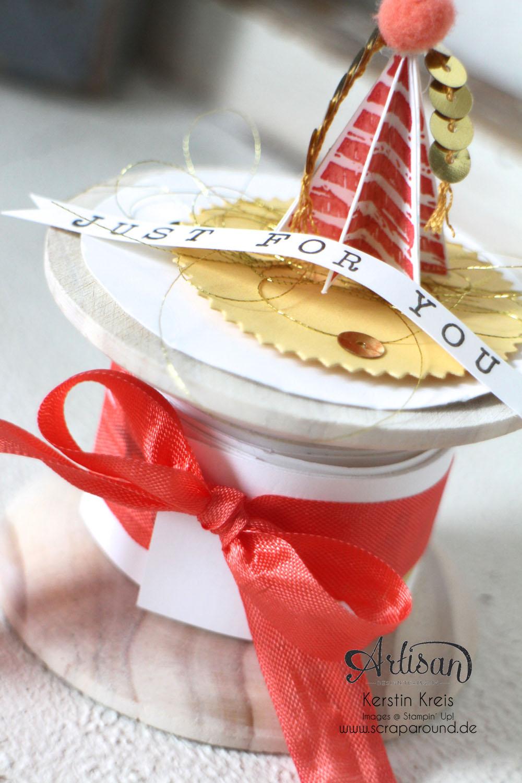 """""""Besonderer Geburtstags-Gruß"""" - Stampin´ Up! Artisan DesignTeam BlogHop 09.04.2015 - Gruß-Rolle mit Stempelset """"Birthday surprise"""" Detailbild02"""