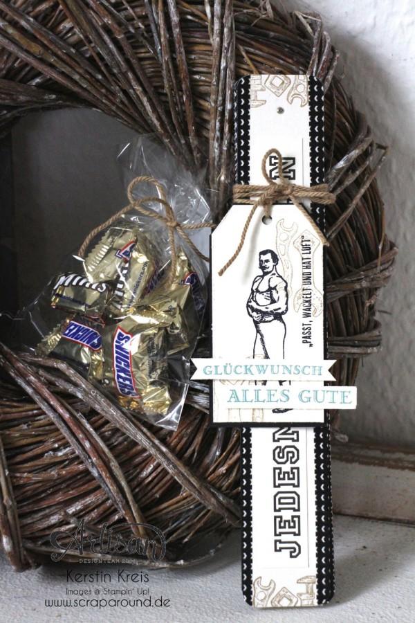 """""""ein Zollstock zum Geburtstag"""" - Stampin´ Up! Artisan DesignTeam BlogHop 30.04.2015 - Männergeburtstag Zollstock aus Spezialpappe mit Stempelset """"Für ganze Kerle"""""""