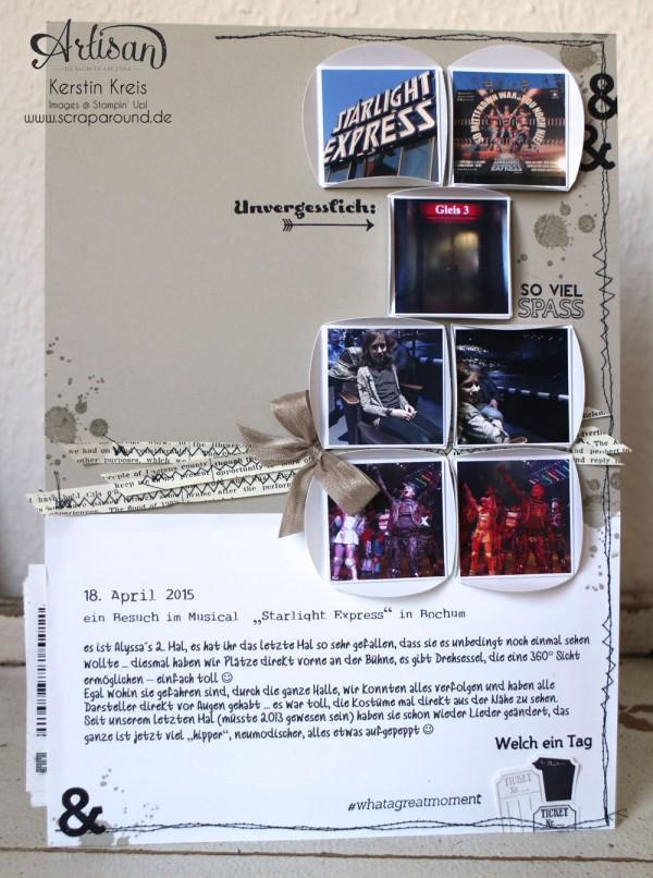 """Stamping & Blogging DT Sketch101 Layout """"Starlight Express"""" mit Stempelsets """"gorgeous Grunge"""" und """"ProjektLife Unvergesslich"""""""