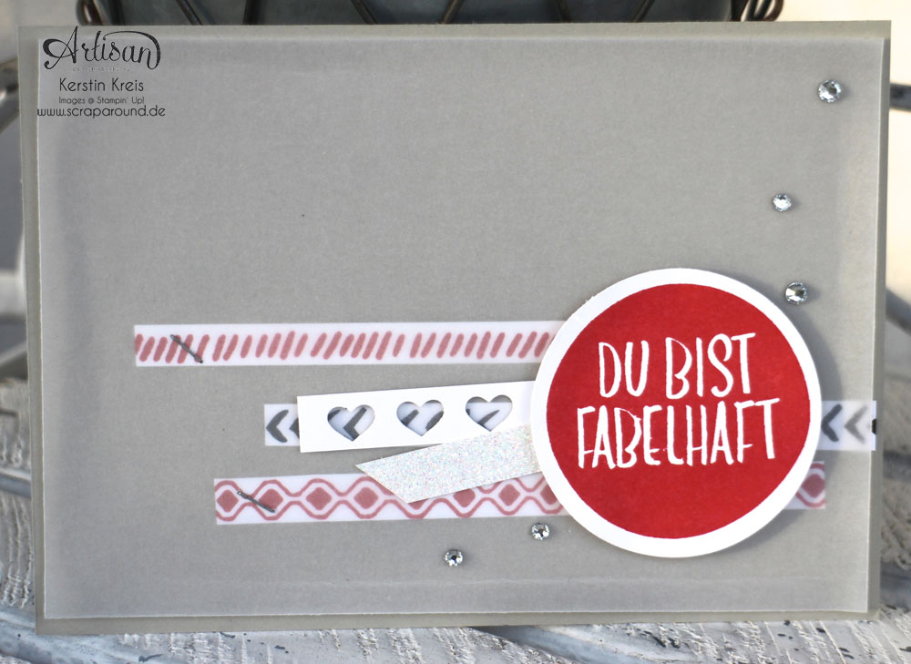 """ein starkes Quartett"" - Stampin´ Up! Artisan DesignTeam BlogHop 07.05.2015 - Karten InColors 2015-2017 mit Stempelsets ""Bohemian Borders"" und ""du bist fabelhaft"" Detailbild04"