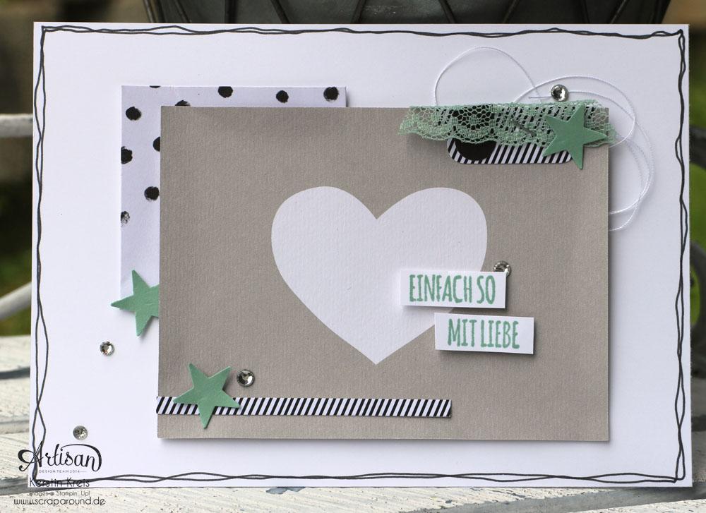 """Karten und Verpackung mit dem Stanz- und Falzbrett für Geschenktüten - Stampin´ Up! Artisan DesignTeam BlogHop 21.05.2015 - InColors 2015-2017 mit PLxSU Kit """"Momente wie diese"""" und Stempelset """"mit Liebe geschenkt"""" Detailbild01"""