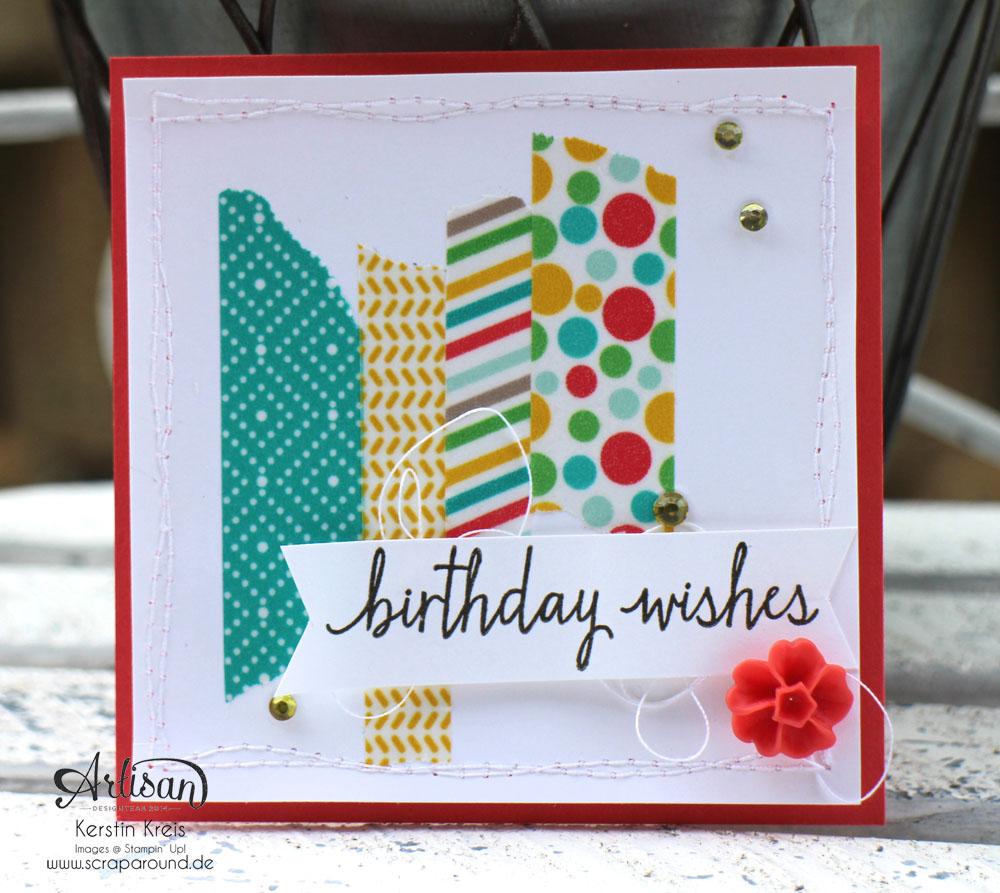 Stampin´ Up! Artisan DesignTeam BlogHop 11.06.2015 - Geburtstags Verpackungen Thinlits Tortenstück und Leckereien-Box mit Washi-Tape Detailbild1