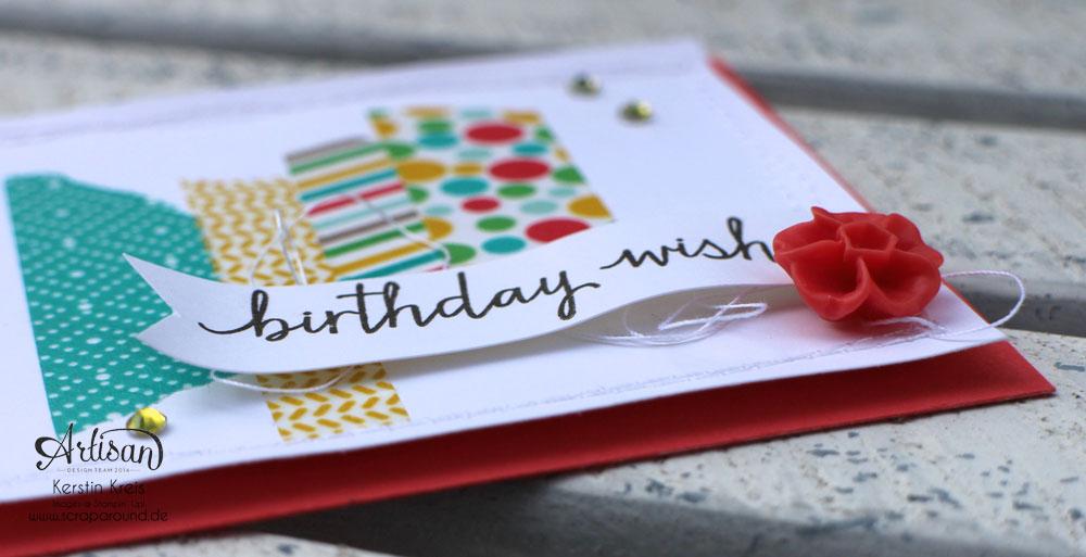 Stampin´ Up! Artisan DesignTeam BlogHop 11.06.2015 - Geburtstags Verpackungen Thinlits Tortenstück und Leckereien-Box mit Washi-Tape Detailbild2