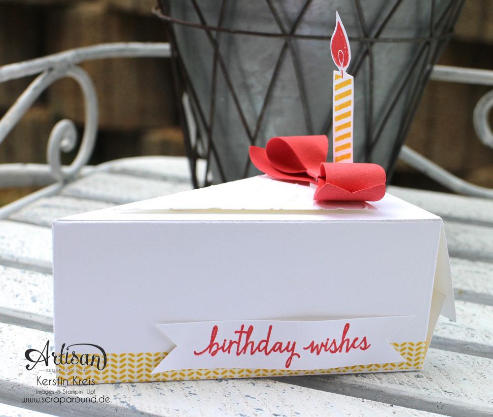 Stampin´ Up! Artisan DesignTeam BlogHop 11.06.2015 - Geburtstags Verpackungen Thinlits Tortenstück und Leckereien-Box mit Washi-Tape Detailbild3