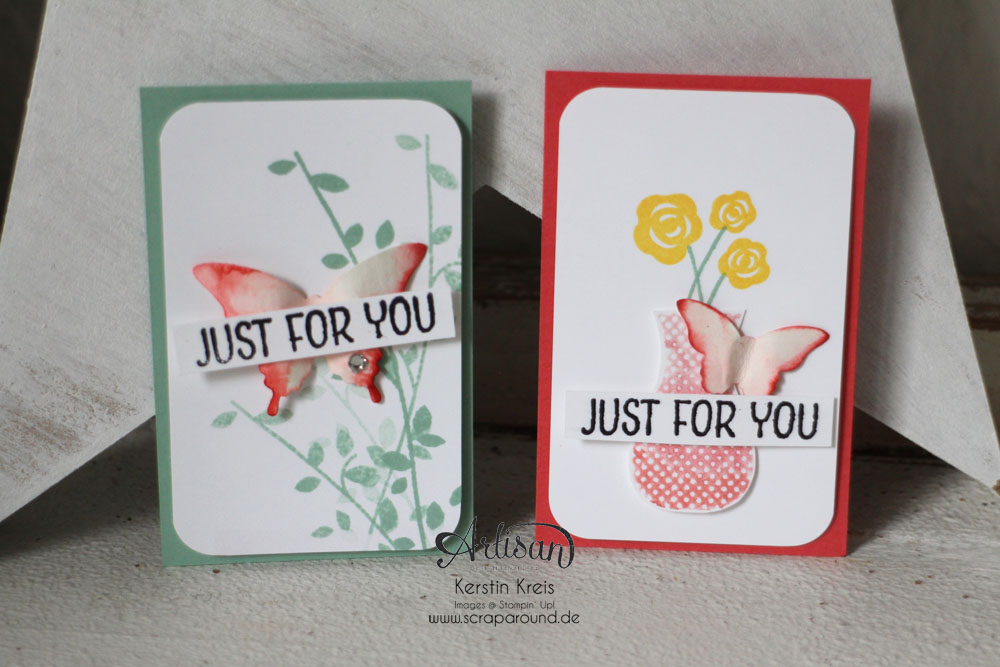 "Stampin´ Up! Artisan DesignTeam BlogHop 18.06.2015 - Inspirationen Gastgeber-Set ""Floral Wings"" Bild1"