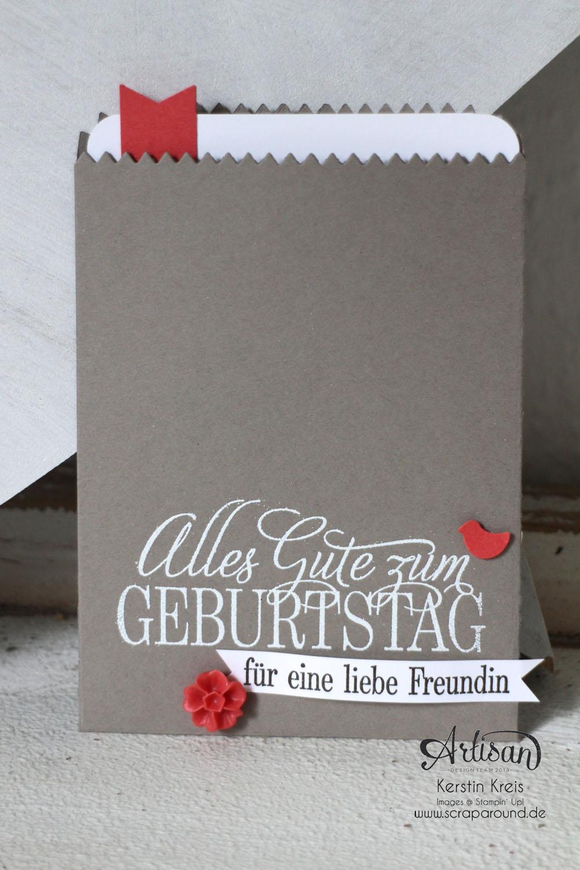 """Stampin´ Up! Artisan DesignTeam BlogHop 18.06.2015 - Inspirationen Gastgeber-Set """"Geburtstagsgrüße für alle"""" Bild1"""