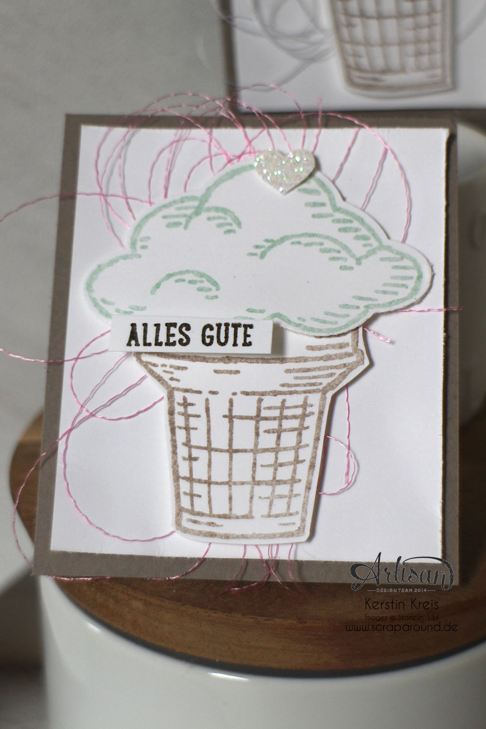 "Stampin´ Up! Artisan DesignTeam BlogHop 25.06.2015 - Inspirationen zum Ronald-Mc-Donald-Set ""Worte, die gut tun"" Detailbild4"