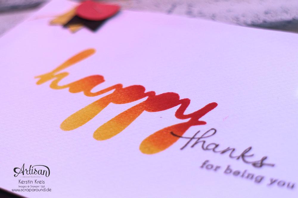 """Stampin´ Up! Artisan DesignTeam BlogHop 02.07.2015 Karte mit Dekoschablone """"Nach Lust und Laune"""" und Stempelset """"Endless Thanks""""  Detailbild1"""