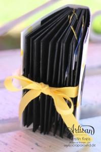 """Stampin´ Up! Artisan DesignTeam BlogHop 02.07.2015 Minibook One-Sheet-Wonder Album mit Dekoschablone """"Nach Lust und Laune"""" und Stempelset """"Endless Thanks""""  Detailbild01"""